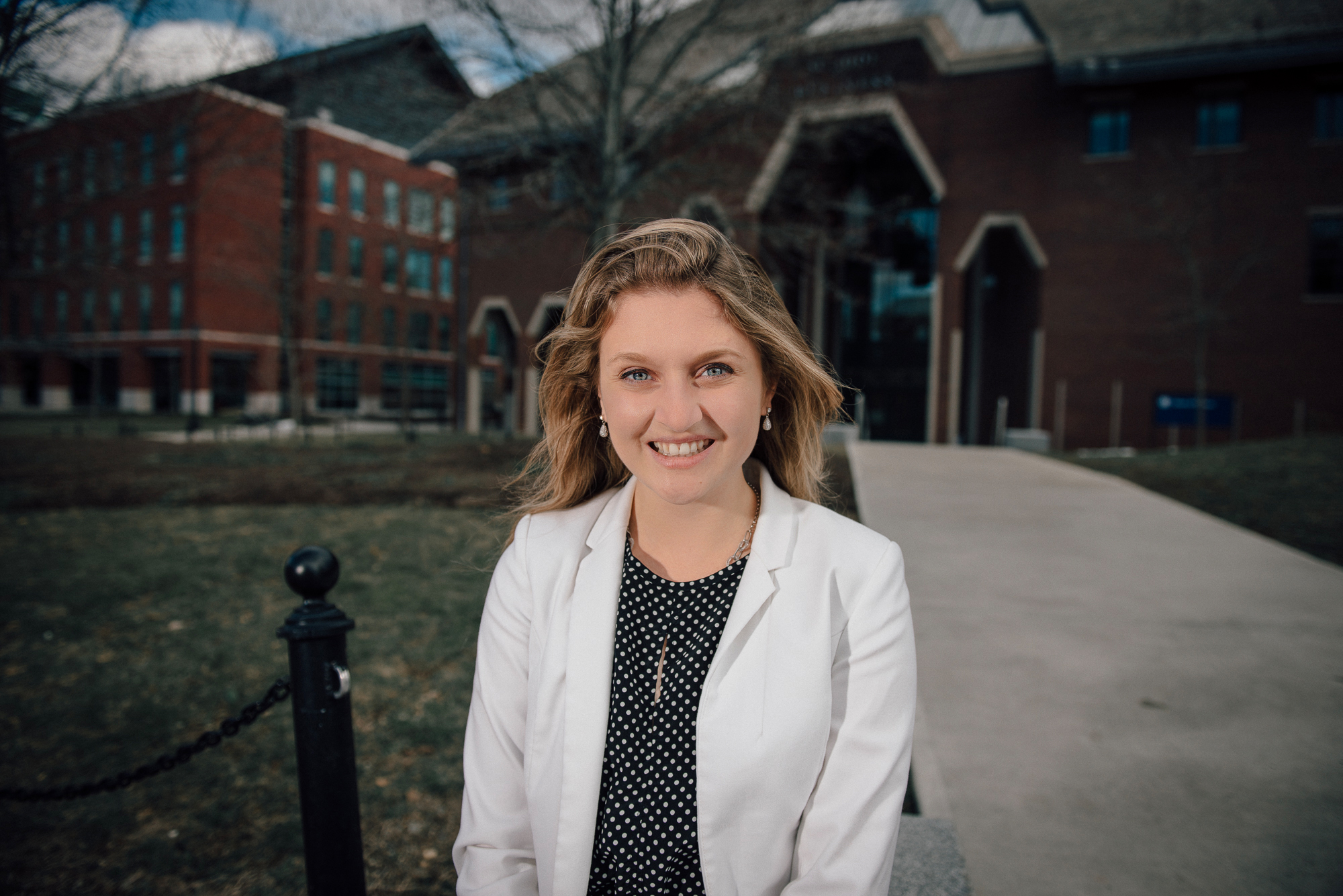 Honors student and marketing major Margo Bailey has been awarded a Fulbright Scholarship to study at the prestigious IE Business School in Madrid, Spain. (Nathan Oldham for UConn)
