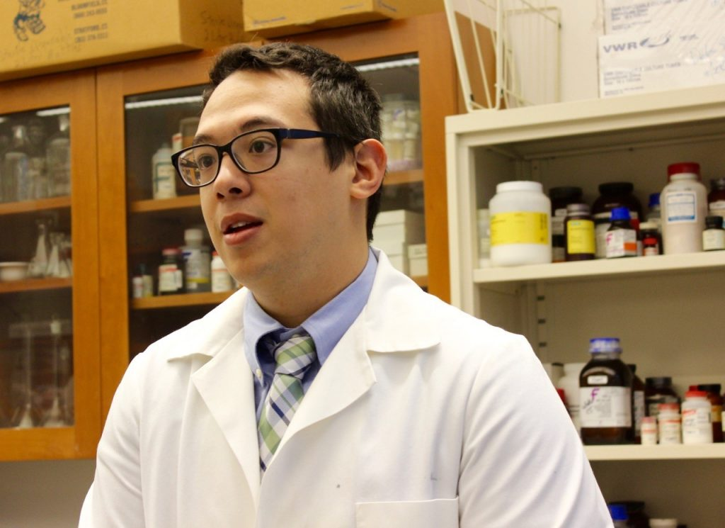 Brett Chen '18 Pharm.D. says his experience in Kendall's lab has been invaluable. (Sheila Foran/UConn Photo)