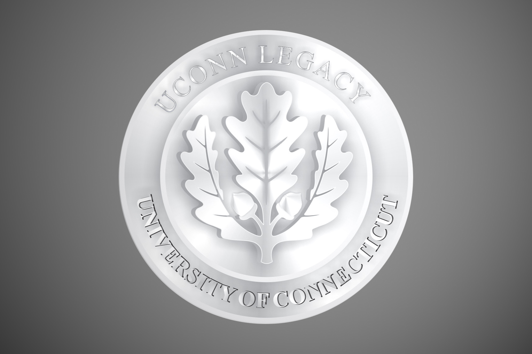 This year, for the first time, the UConn Office of Alumni Relations will distribute legacy medals to graduating seniors who have a parent, grandparent, or sibling who graduated from UConn.