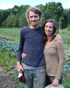Charlotte Ross and Jonathan Janeway of Sweet Acre Farm.