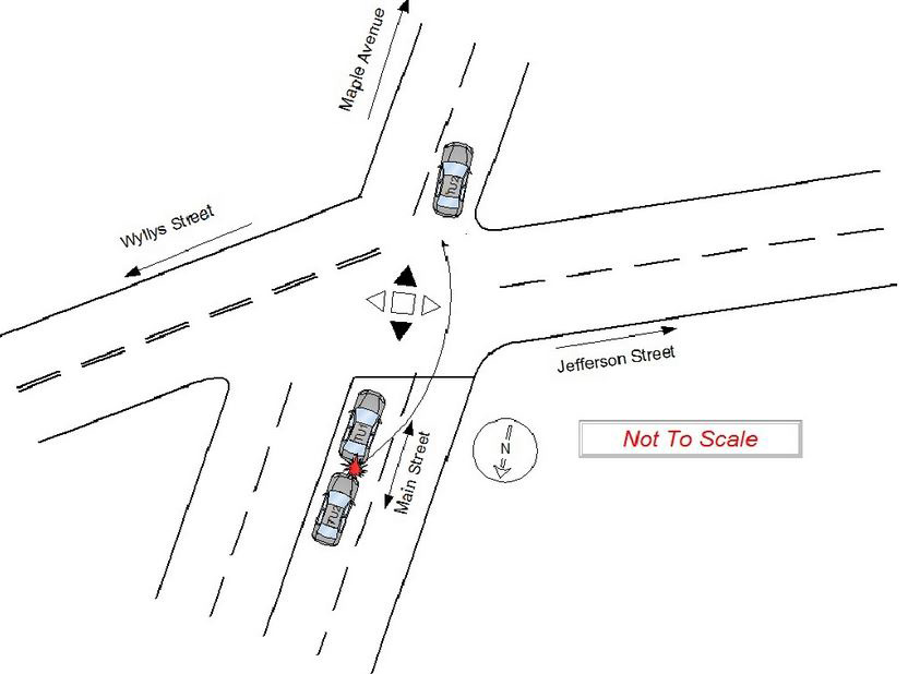 A sample from the database showing a detailed diagram of a crash.
