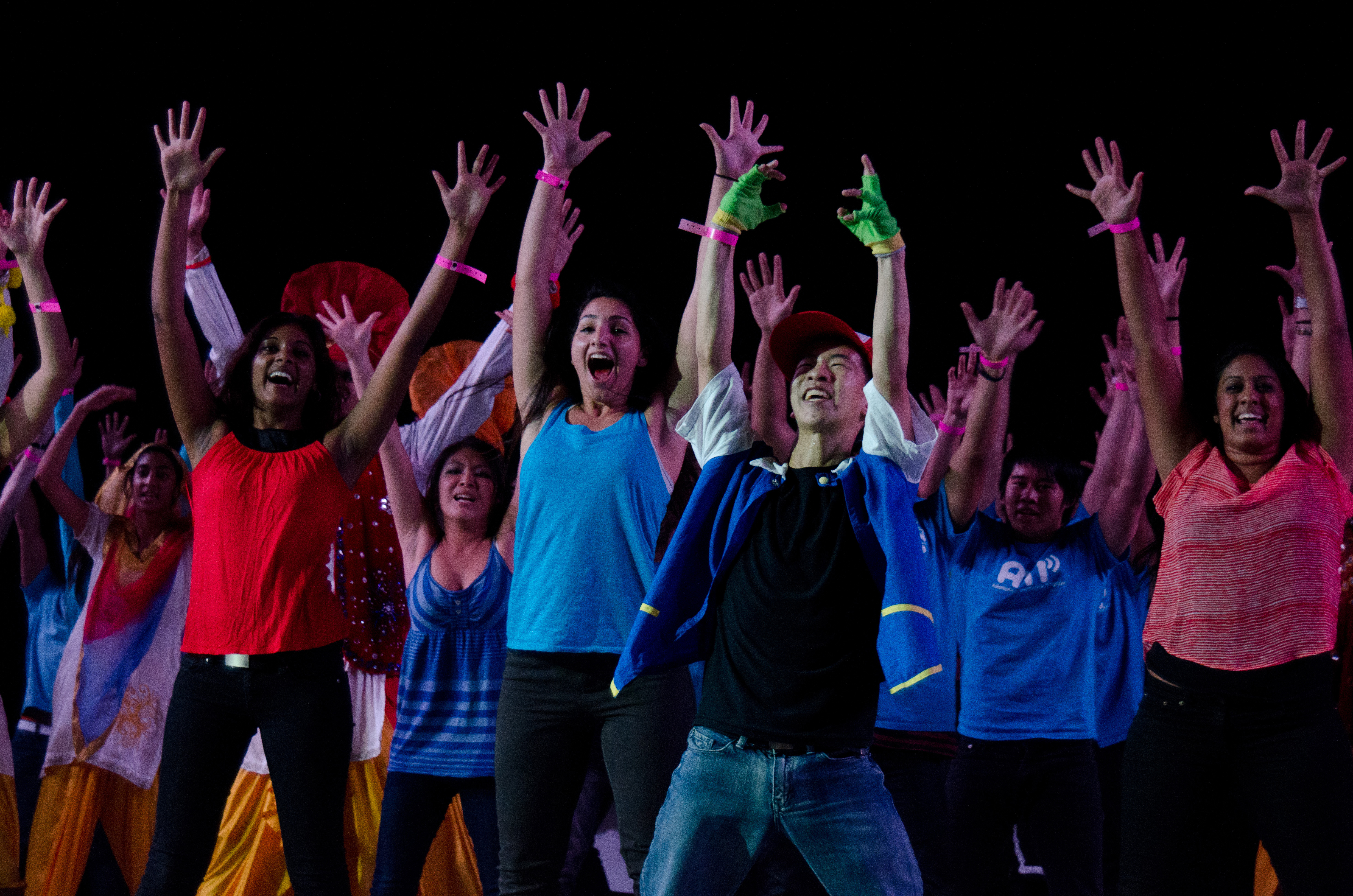 Members of the Asian American Cultural Center performs at Lip Sync. (Ariel Dowski/UConn File Photo)