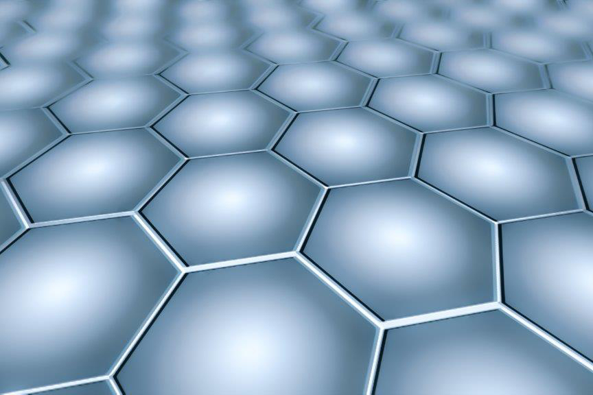 Abstract of hexagons. (Shutterstock)
