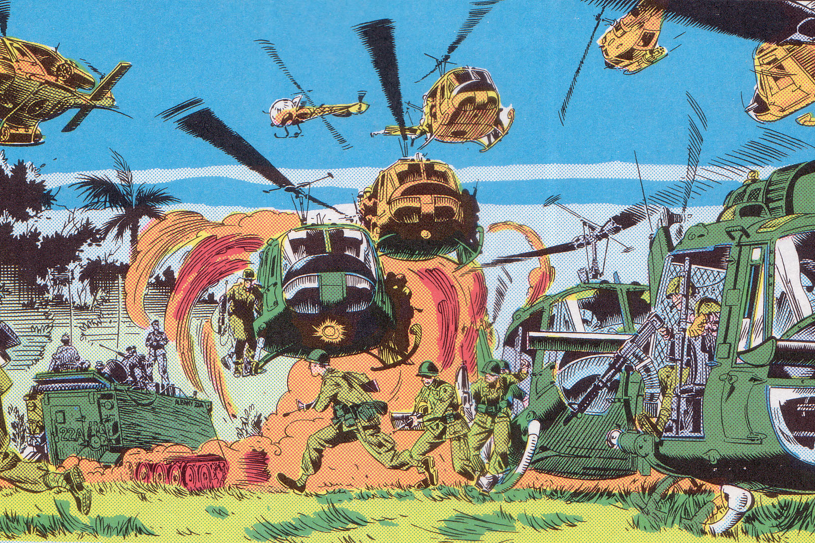A Panel from the Marvel Comics series 'The 'Nam.'