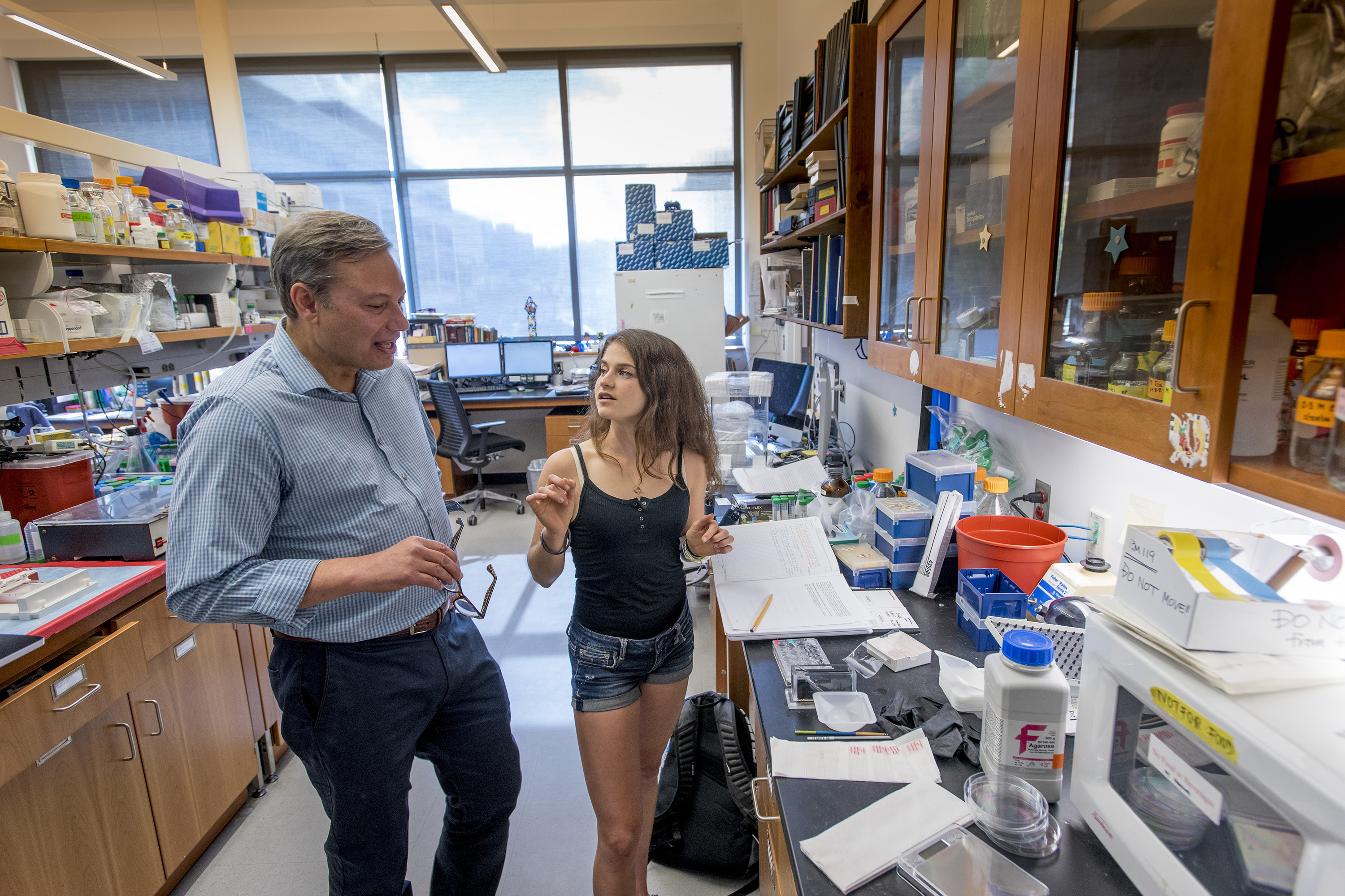 'Being a Husky teaches you how to be a better person – not just on campus, but for the rest of your life,' says Randazzo, an undergraduate researcher in the lab of Professor Joseph LoTurco and a student in the Special Program in Medicine as well as an athlete on the Women's Track team. (Sean Flynn/UConn Photo)