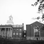 The Wilbur Cross Building on Sept. 19, 2017. (Peter Morenus/UConn Photo)