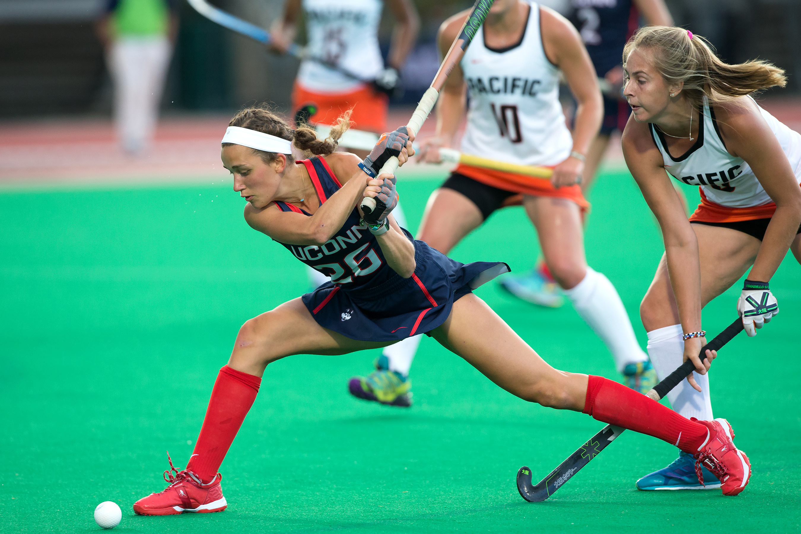 Charlotte Veitner during a game against Pacific. (UConn Athletic Communications Photo)
