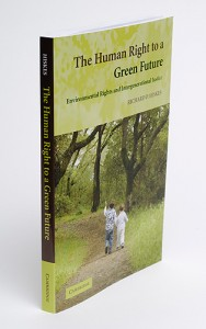 <p>The Human Right to a Green Future, a new book by Richard Hiskes. Photo by Peter Morenus  </p>