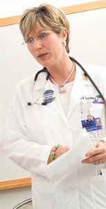 <p>Nancy Baccaro, an advanced practice registered nurse, heads the Pain and Palliative Care Program at John Dempsey Hospital. Photo supplied by the UConn Health Center </p>