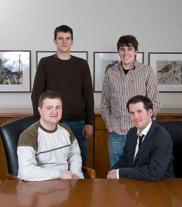 Seated, Michael Abramczyk, left and Kevin Burgio. Standing, Alex Meeske, left, and Rory Coleman. Photo by Frank Dahlmeyer