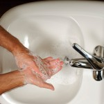<p>Hand washing can help prevent an outbreak of flu. Photo by Peter Morenus</p>