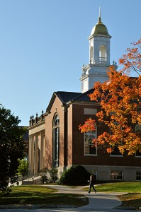 <p>A side view of the Wilbur Cross Building. Photo by Peter Morenus</p>