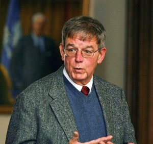 <p>Walter Woodward, state historian and assistant professor of history. Photo by Danielle Robinson</p>