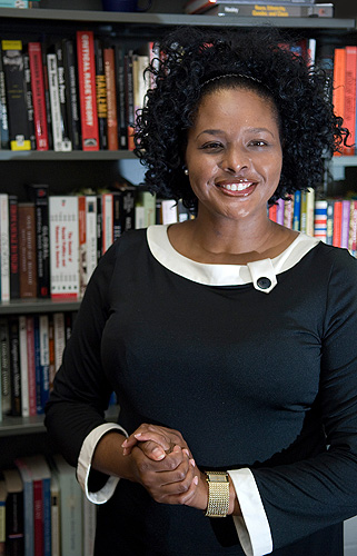 "<p>Shayla C. Nunnally, assistant professor of political science, has written a book< ""In Whom Do We Trust?:  Black Americans, (Dis) Trust, and the Vestiges or Race"" which will be released next year by New York University Press. Shayla C. Nunnally, assistant professor of political science, has written a book ""In Whom Do We Trust?:  Black Americans, (Dis) Trust, and the Vestiges or Race"" which will be released next year by New York University Press. Photo by Daniel Buttrey</p>"