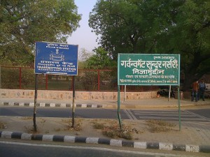 <p>Street signs in Delhi, India. Photo by Jeremy Teitelbaum</p>