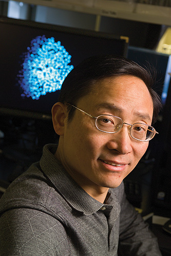 <p>The Health Center's Dr. Ren-He Xu developed four new stem cell lines that have received approval from the National Institutes of Health. Photo by Al Ferreira</p>