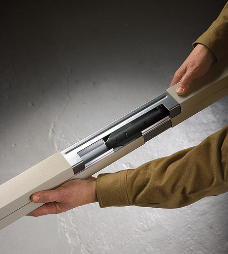 <p>A team of senior Mechanical Engineering students designed an extender for Legrand/Wiremold's Tele-Power Poles. Photo provided by Legrand/Wiremold</p>
