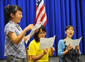 <p>The students in the PLUS program came from many countries.  Most are undergraduate students who return home with their new found language ... and singing ... skills. Photo by Peter Morenus</p>