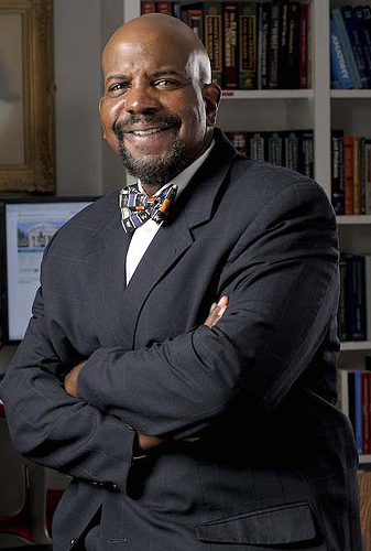 <p>Cato T. Laurencin, M.D., Ph.D. is a nationally prominent orthopedic surgeon, professor and administrator. He joined the UConn Health Center on August 11,2008 as its new vice president for health affairs and is the seventh dean of the University of Connecticut School of Medicine. Photo by Michael Bailey</p>