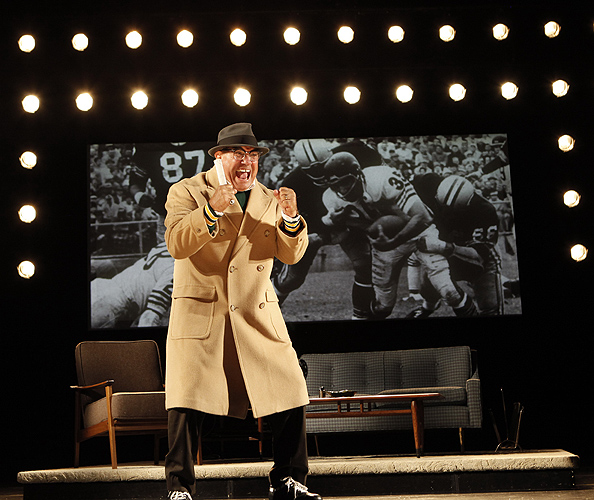 <p>Dan Lauria stars in Lombardi, opening October 21, 2010 at Broadway's Circle in the Square Theatre. Photo by Joan Marcus</p>