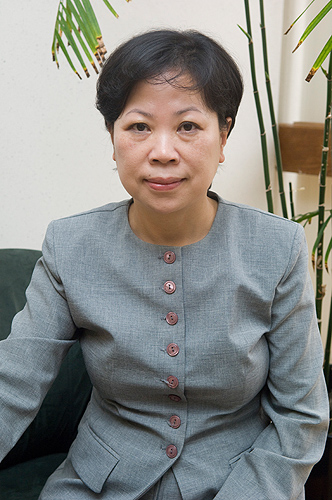<p>Carolyn Lin, professor of communications science. Photo by Daniel Buttrey</p>