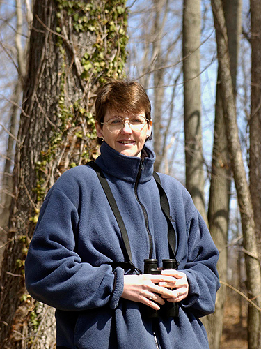 <p>Margaret Rubega, an assistant professor of ecology and evolutionary biology, says it's essential togo outside to appreciate the biology of birds. Photo by Dollie Harvey</p>