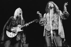 <p>Johnny Winter and Janis Joplin. Photo by Steve Banks</p>