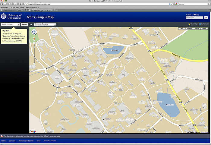 New Storrs Campus Map Debuts Uconn Today