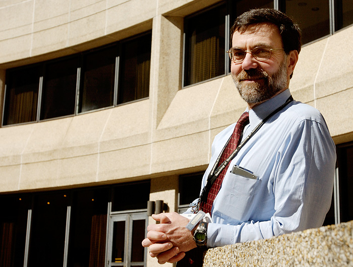<p>Bruce Gould, associate dean for Primary Care at the UConn Health Center.  Photo by Peter Morenus</p>