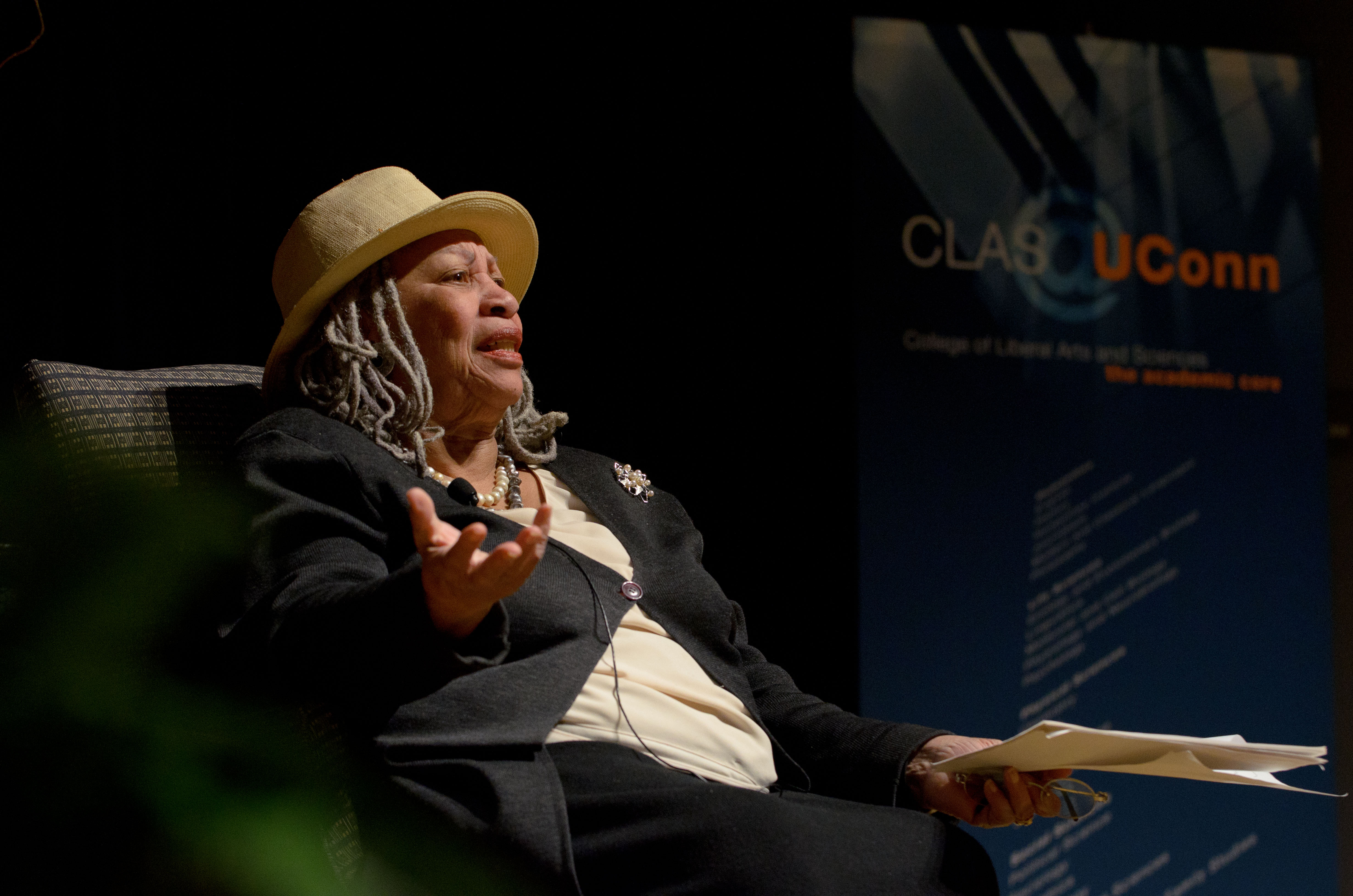 Toni Morrison, the Nobel and Pulitzer prize-wining author speaks at the Student Union Theatre.