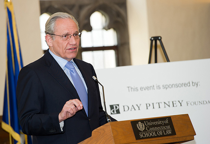 <p>2011 Day Pitney Visiting Scholar Lecture featuring Journalist and Author Bob Woodward. Photo by Spencer A. Sloan</p>