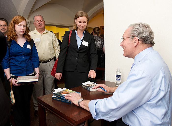 <p>2011 Day Pitney Visiting Scholar Lecture featuring Journalist and Author Bob Woodward. Photo by Spencer A.Sloan</p>