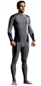 Full body compression suits aid athletes.