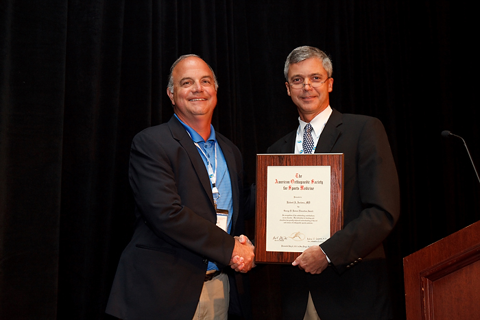Arciero Honored for Contribution to Sports Medicine Education