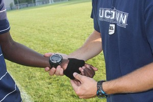 A Timex Global Trainer GPS Unit.
