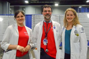 Jessica Johnson (left) volunteered with Drs. Bruce Gould and Marilyn Katz at a free clinic for the underserved Washington, D.C. (Photo supplied by Dr. Bruce Gould)