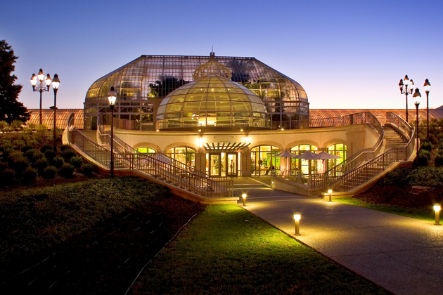 The LEED Silver Welcome Center at the Phipps Conservatory.
