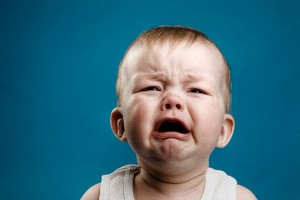 A nine-month-old baby crying. (iStock image)