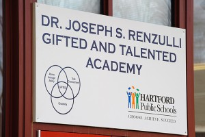The Renzulli Academy, based on principles of gifted education, is a partnership between UConn's Neag School of Education and the Hartford Public Schools. (Peter Morenus/UConn Photo)