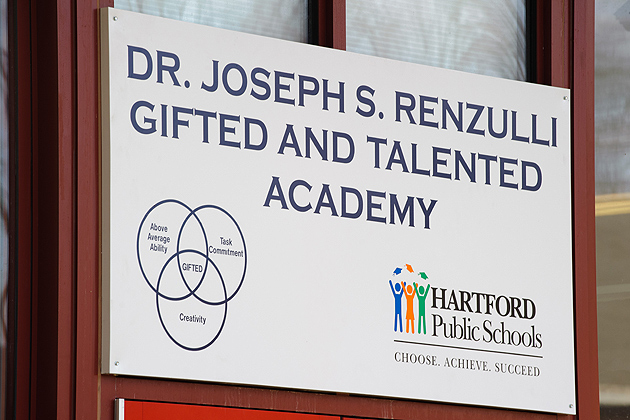 Dr. Joseph S. Renzulli Gifted and Talented Academy in Hartford on Dec. 14, 2011. (Peter Morenus/UConn Photo)