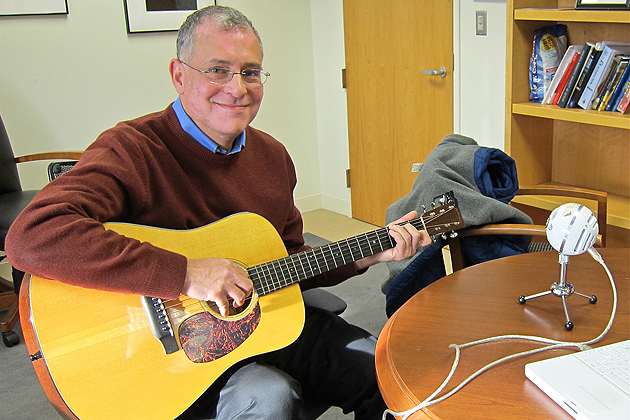 Trying to be funny as dean. (Christine Buckley/UConn Photo)