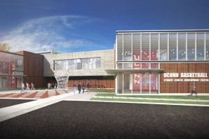 Architect's rendering of the UConn Basketball Development Center