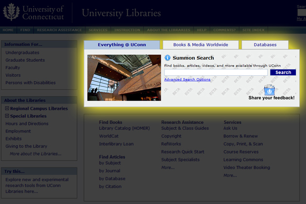 Information Easier and Quicker to Find with Libraries' New Search Capability.