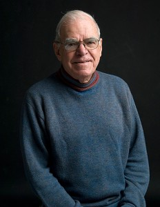 The late Dennison Nash, professor emeritus of anthropology. (Dan Buttrey/UConn Photo)<br>