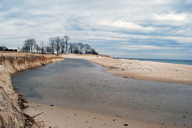 A view of Long Island Sound in Waterford at Harkness Memorial State Park, which was hard hit by Tropical Storm Irene. (UConn Libraries Photo)