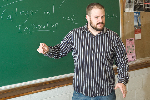 Ph.D. candidate B. J. Strawser is writing his dissertation on the ethics of war.