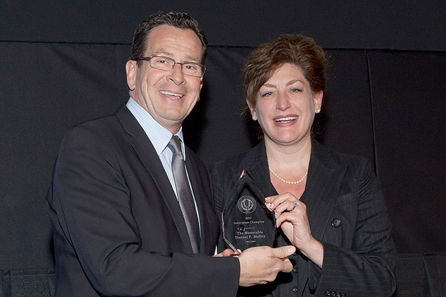 Governor Dannel P. Malloy and UConn President Susan Herbst (Thomas Hurlbut for UConn)