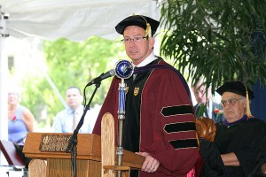 Governor Dannel P. Malloy addressed the Law School Graduates (Tina Covensky for UConn)