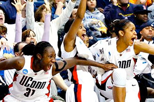 UConn's women's basketball team has set an impressive example for female athletes.
