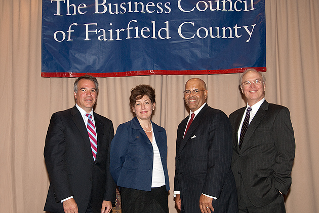 President Herbst addressed the annual meeting of The Business Council of Fairfield County on June 22. (Photo courtesy of The Business Council of Fairfield County)